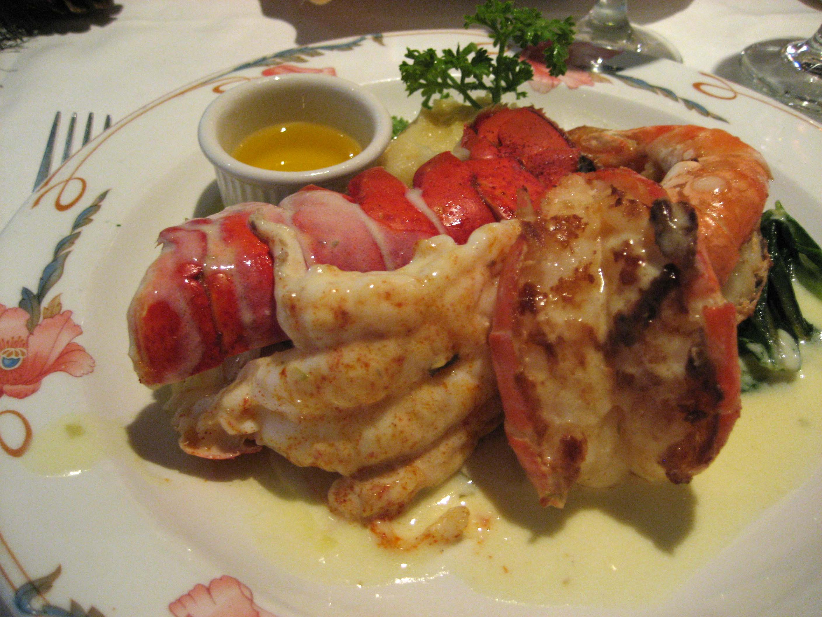 Lobster Tail with Butter Sauce