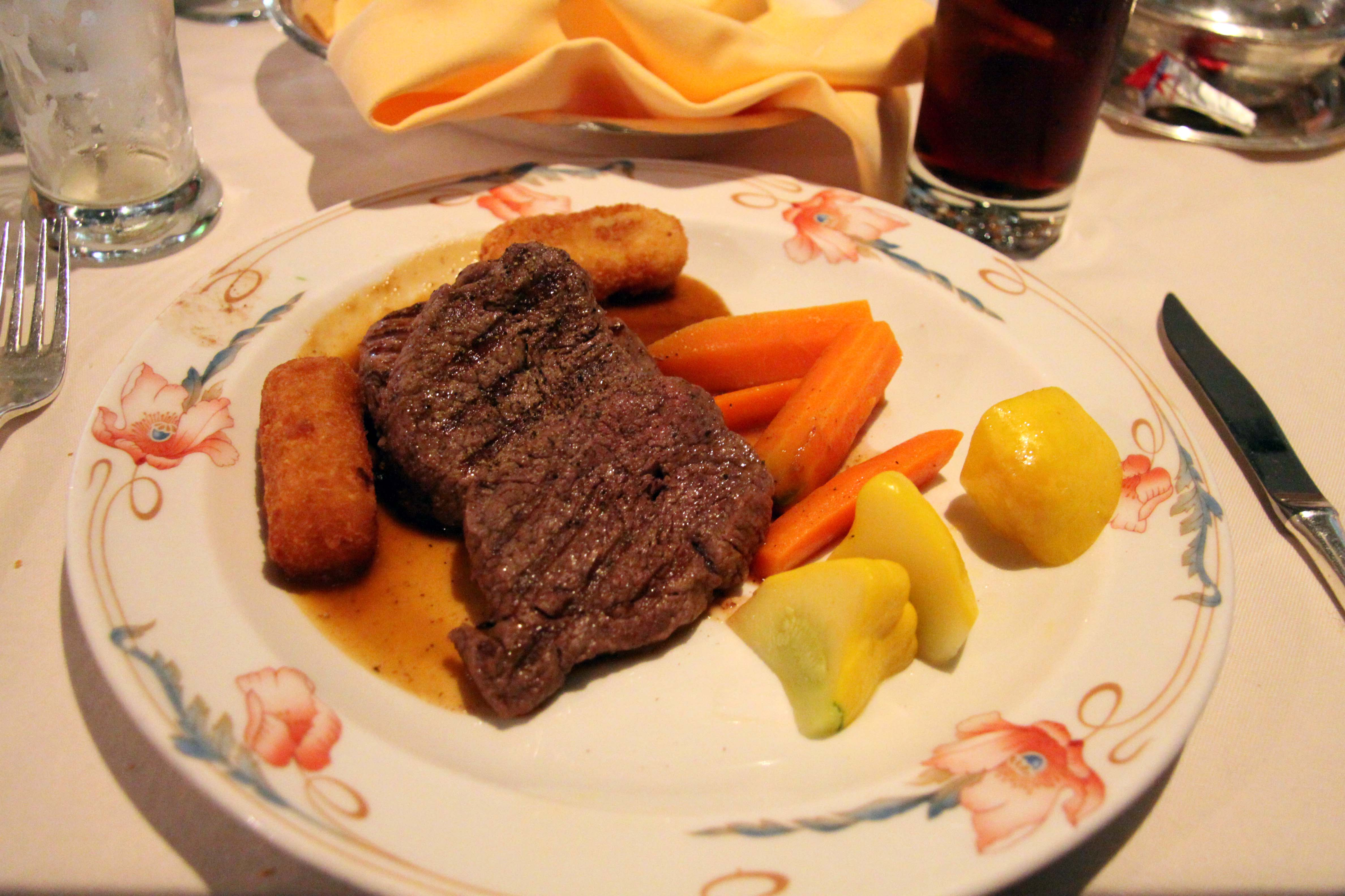 Rib Fillet with Potato Croquettes