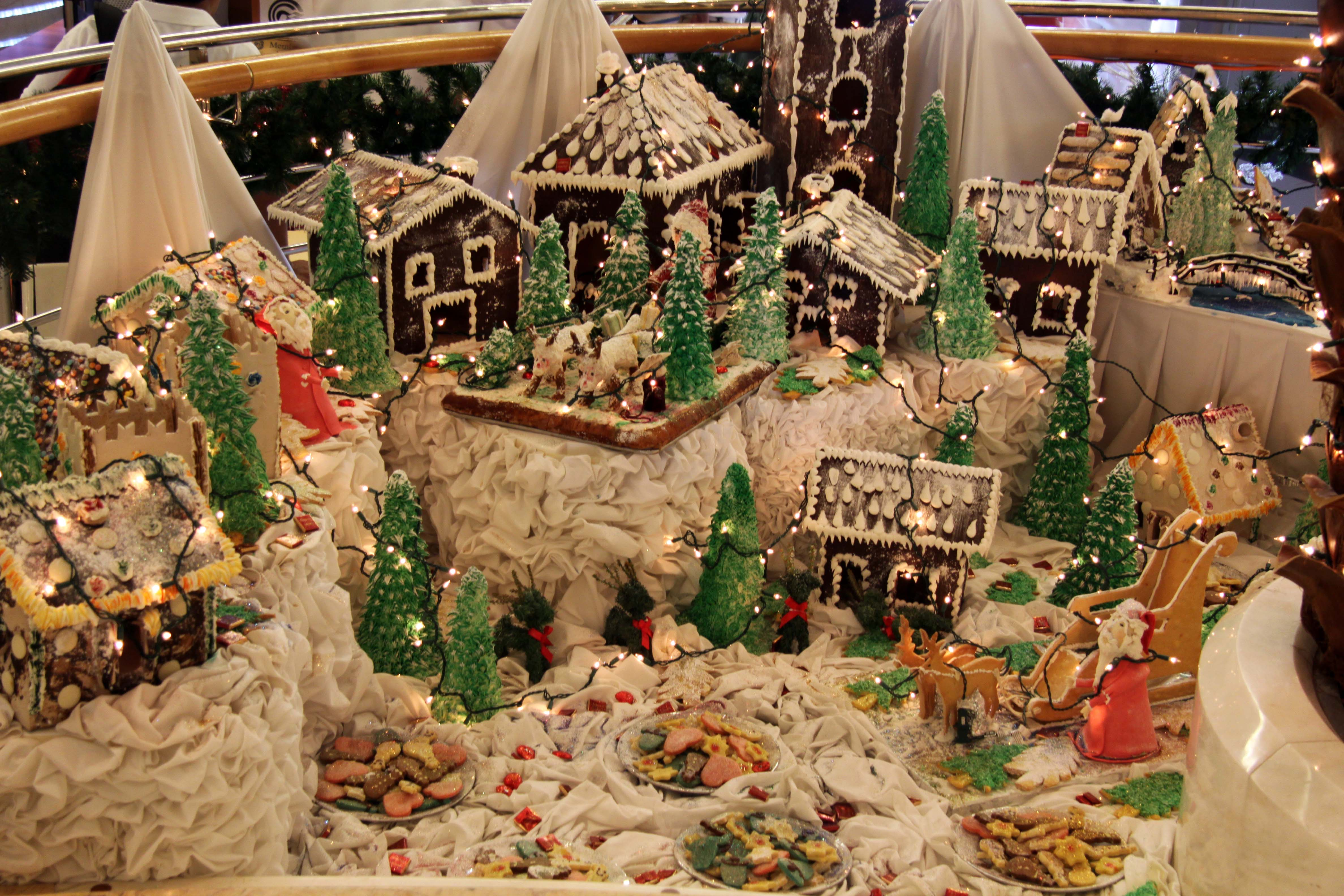 SXmas gingerbread village A5