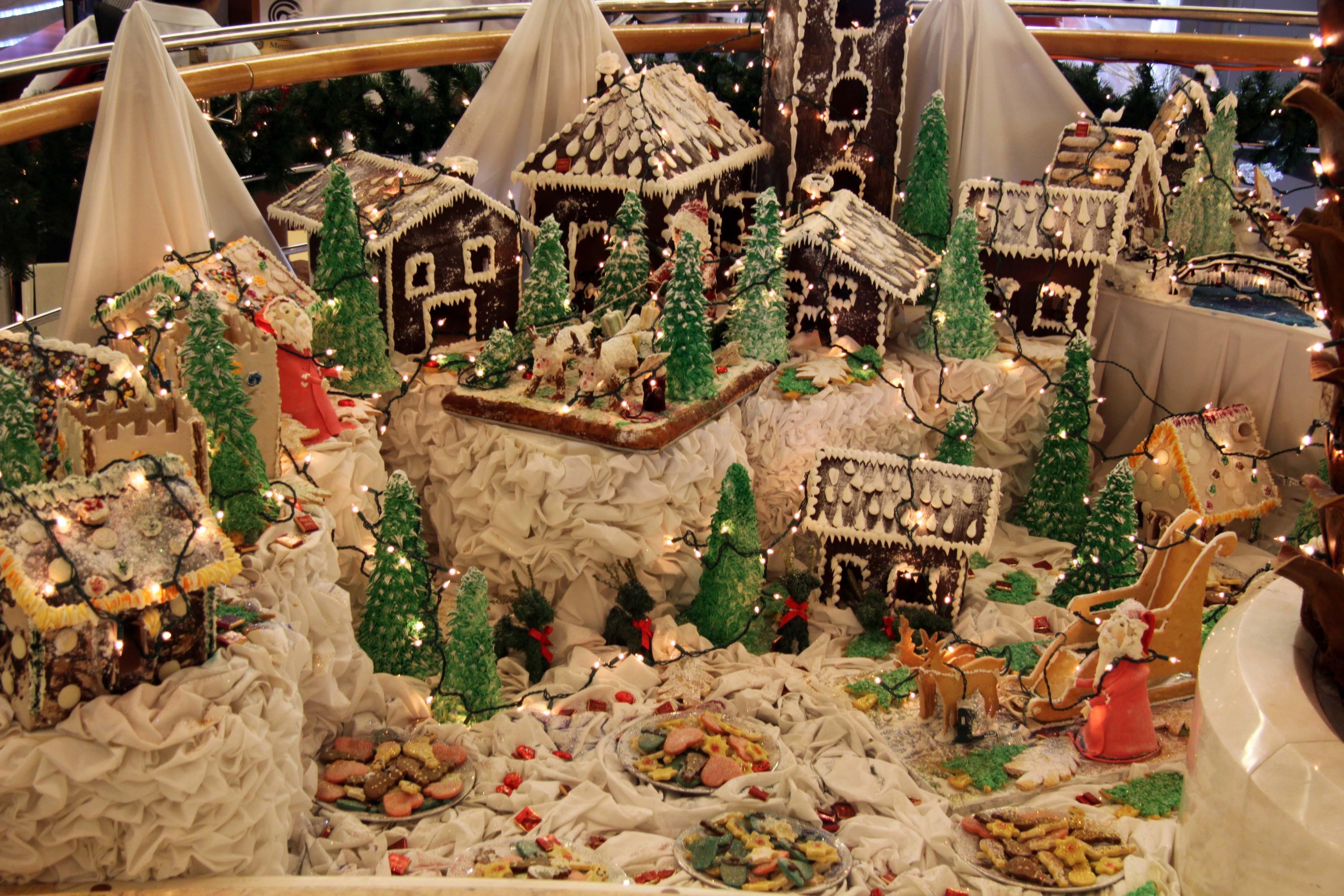 SXmas gingerbread village A5