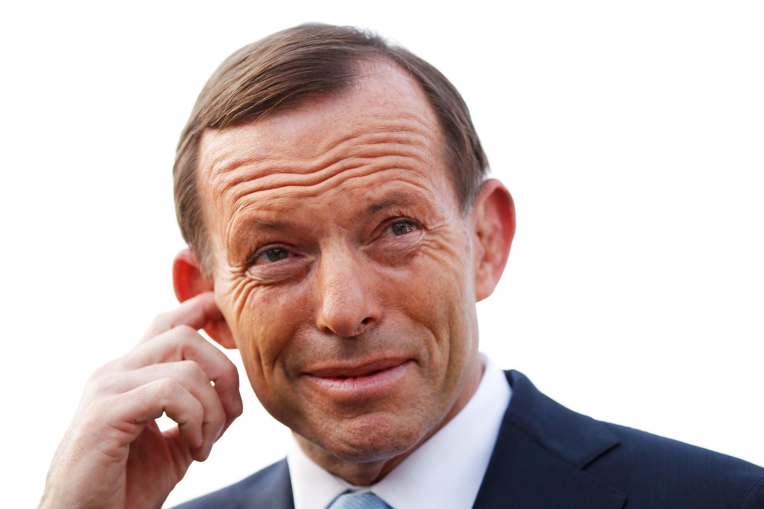 Abbott looking stupid