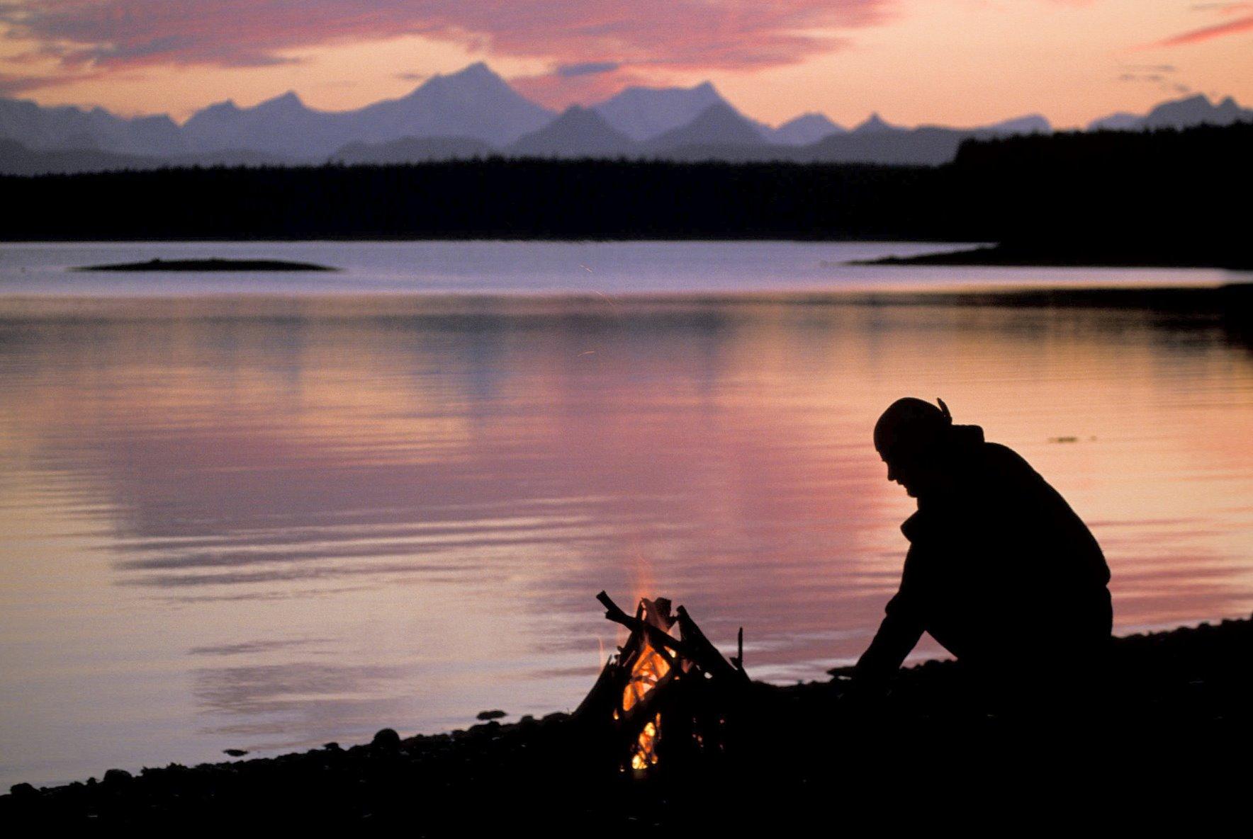 Evenings in Glacier Bay.