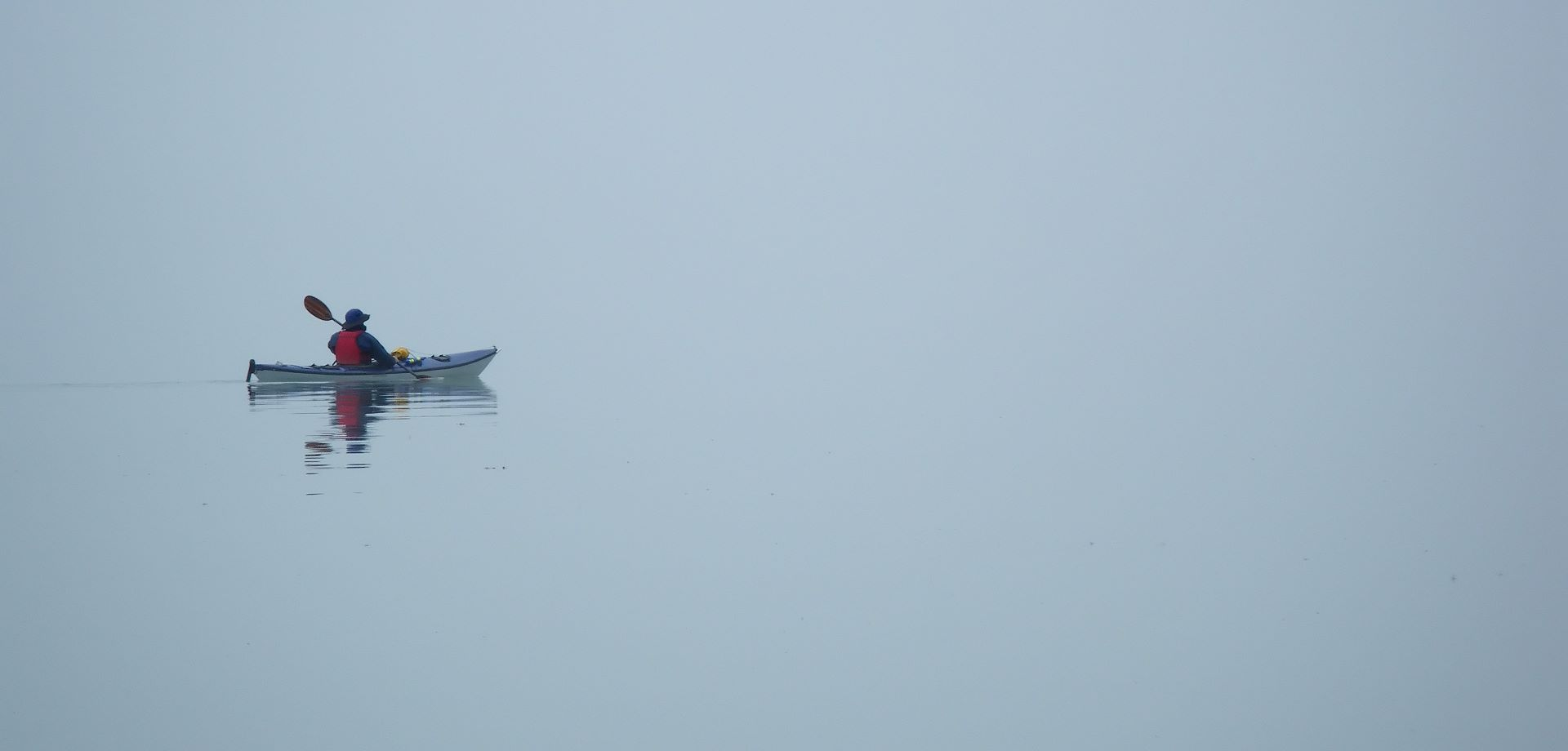 Kayaking in fog - it is eerily quiet, and peaceful.