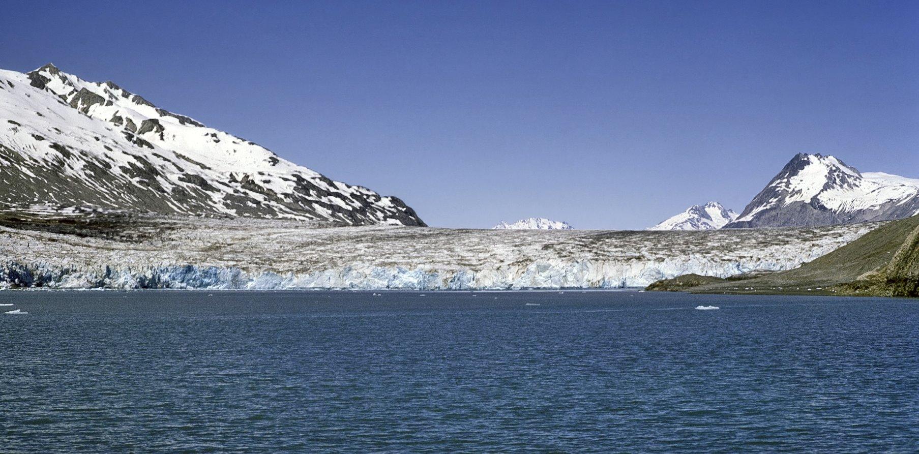 Plateau Glacier in Wachusett Inlet on June 5, 1967.