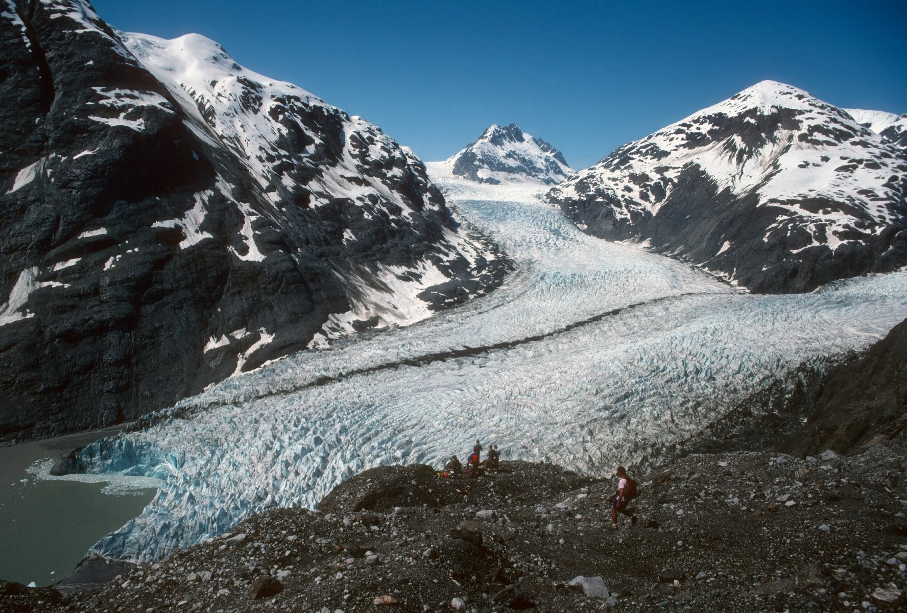 Muir Glacier in 1991.