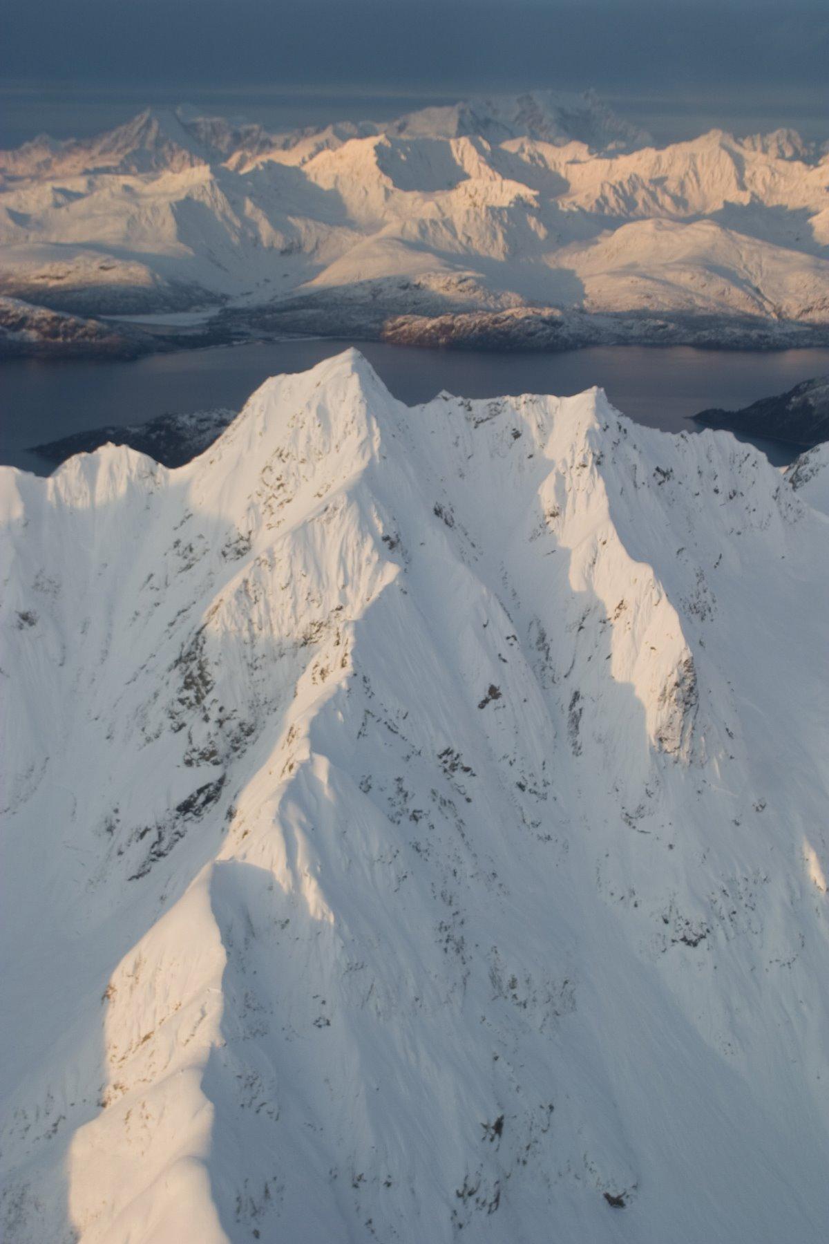 Unnamed peaks in Glacier Bay.