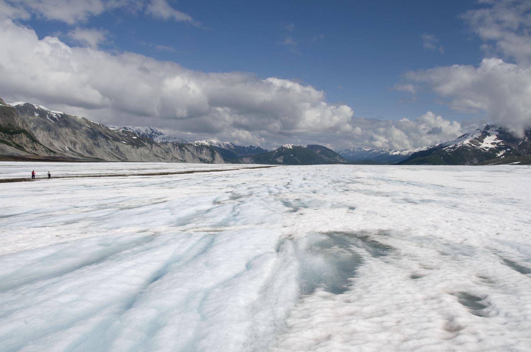 Small portion of a huge, huge glacier.