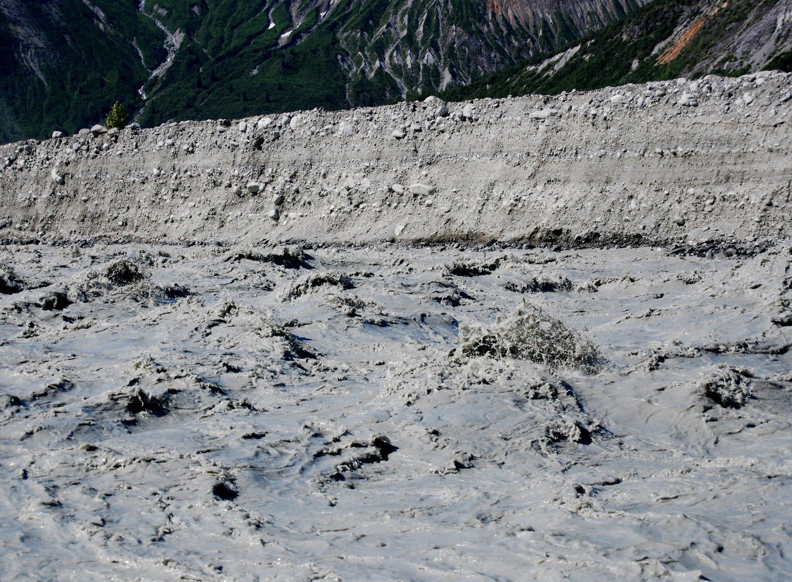 Run off from the Carroll Glacier.