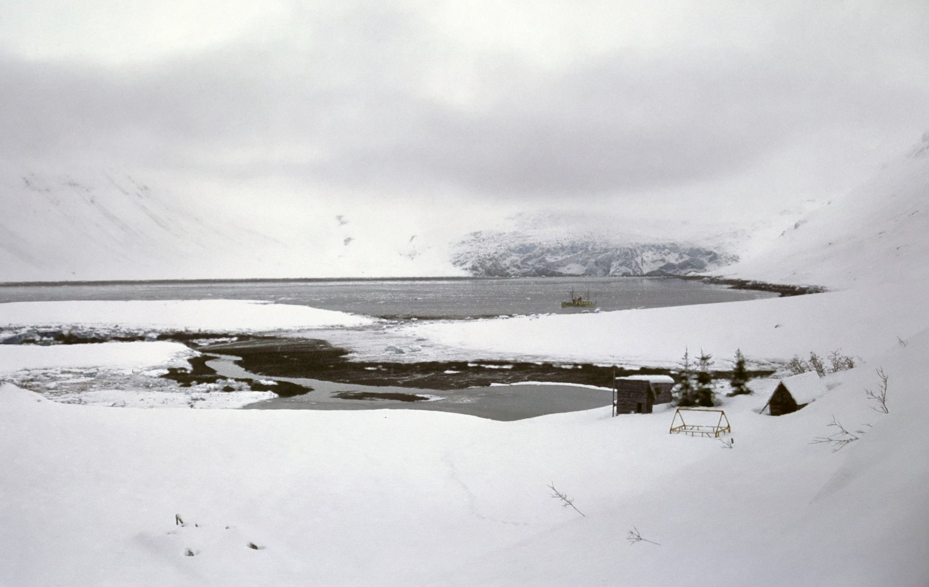 Reid Inlet during the winter of 1967-68