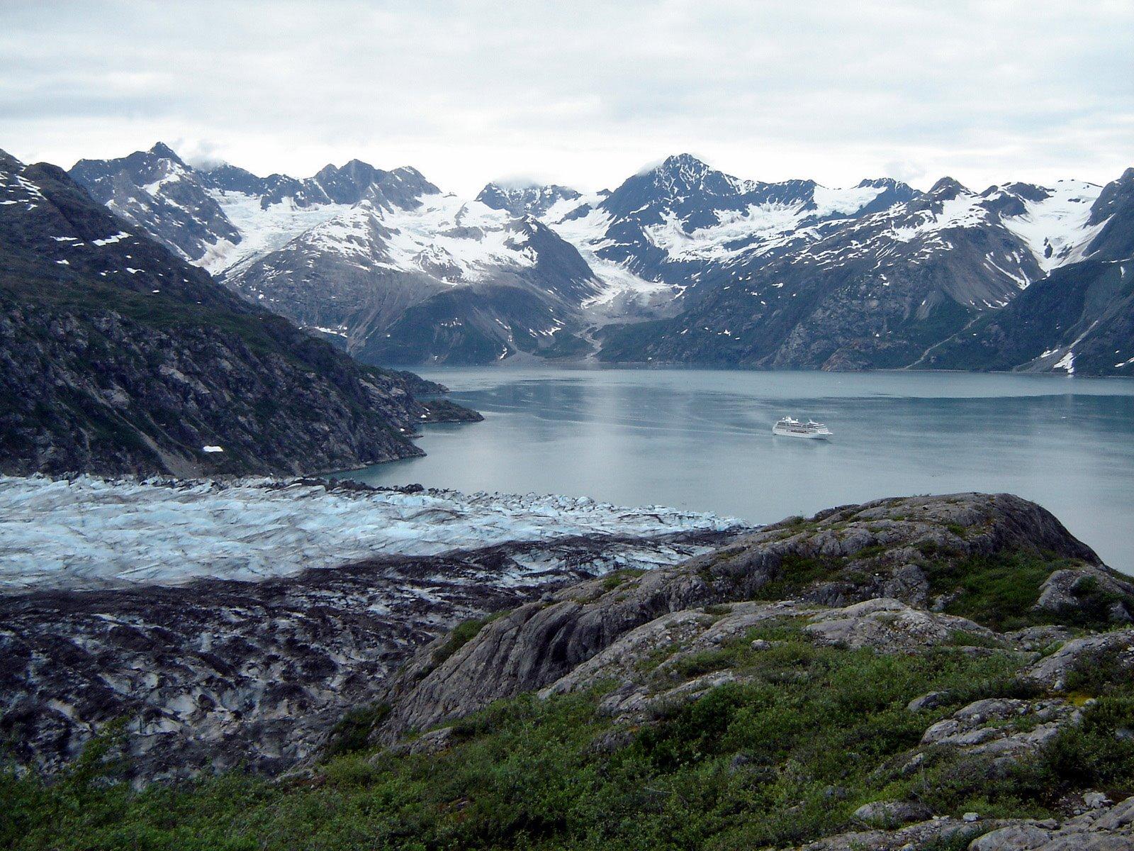 Lamplugh Glacier has one of the larger tidewater glacier faces in Glacier Bay.