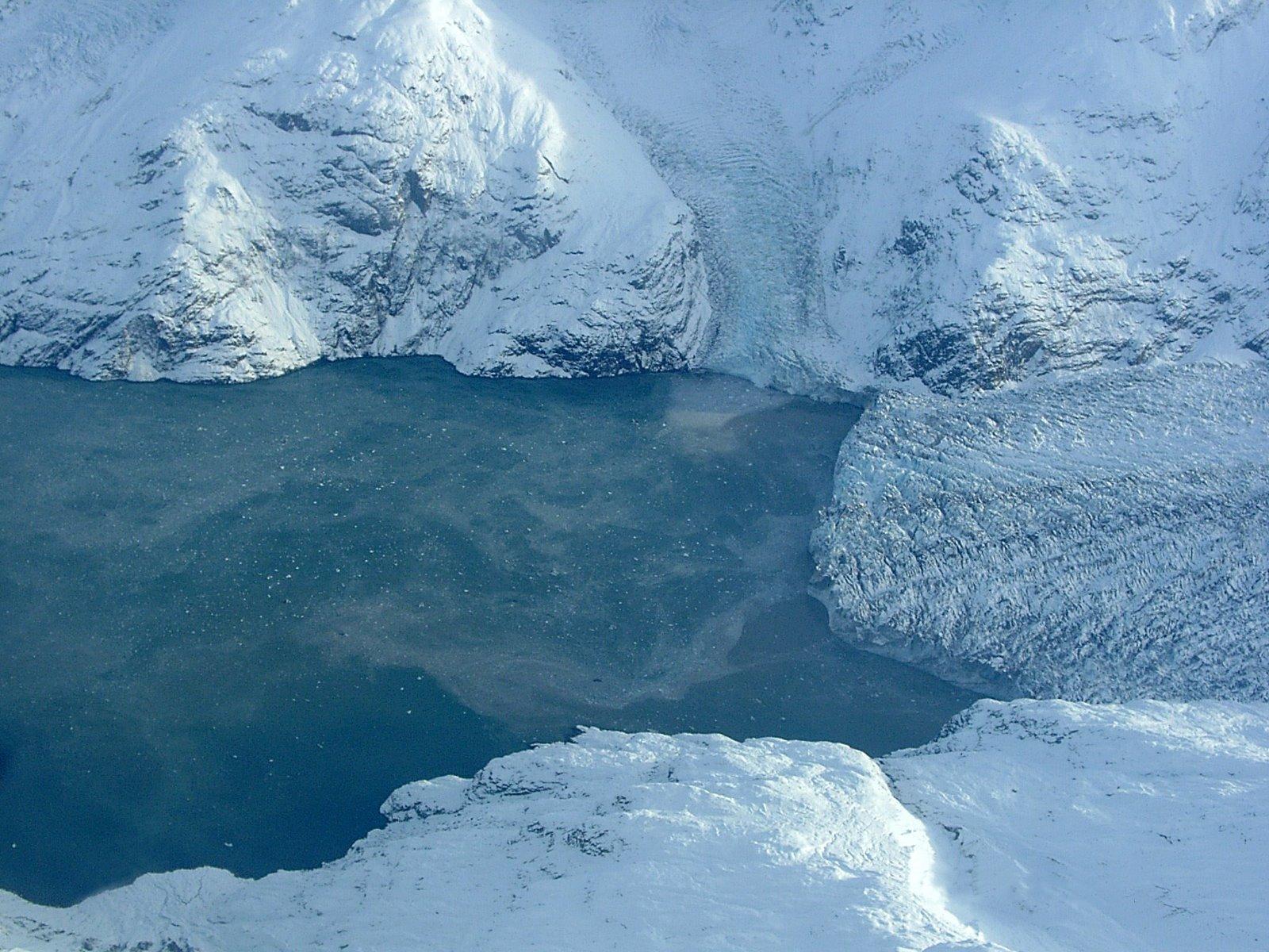 Icebergs at Johns Hopkins Glacier.