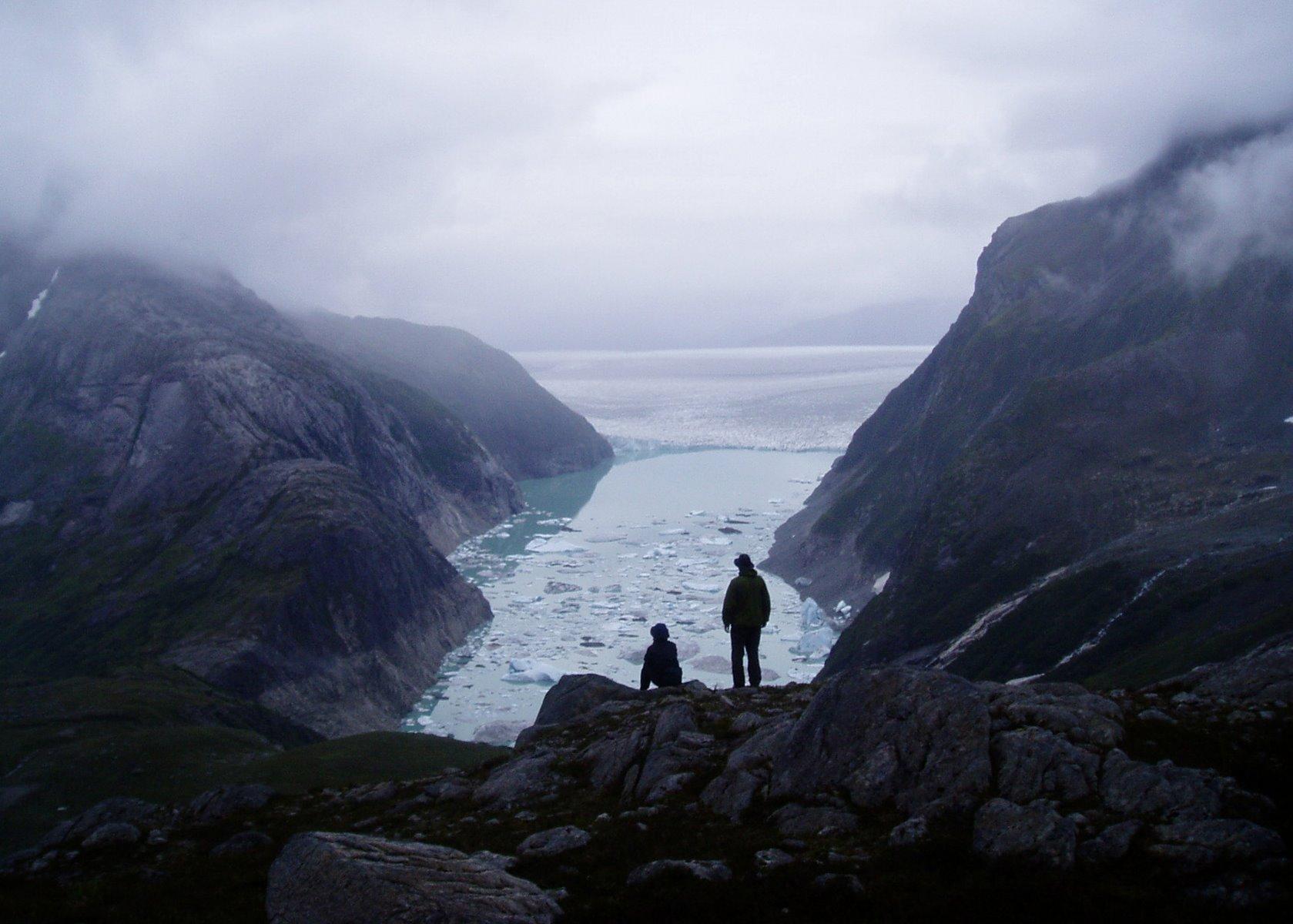 Iceberg studded lake near the massive Brady Glacier.