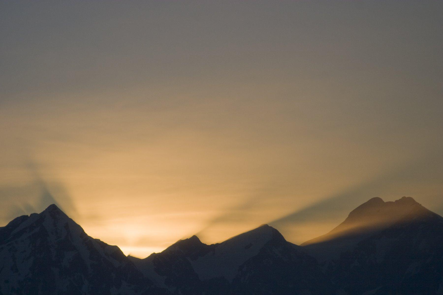 Evening sun near Brady Glacier.