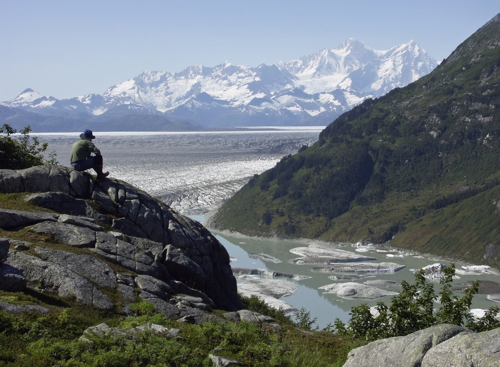 Views over Glacier Bay National Park.