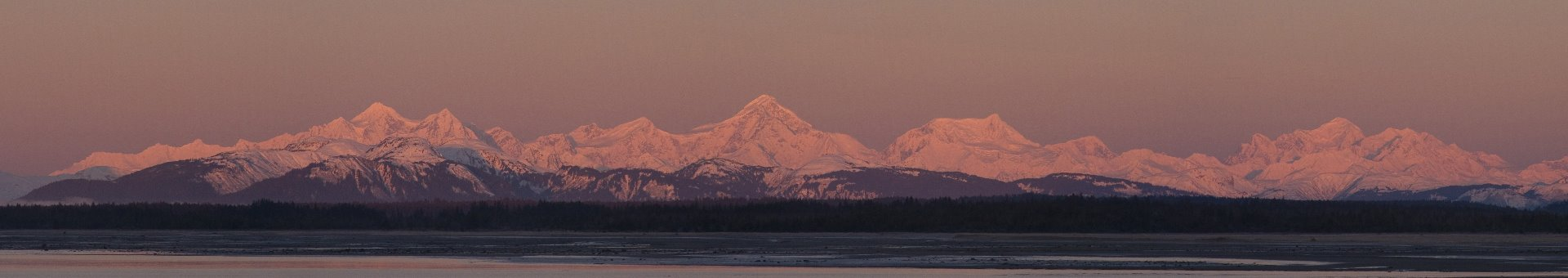 Lituya Mountain, Mt. Crillon, Mt. Bertha and Mt. Fairweather