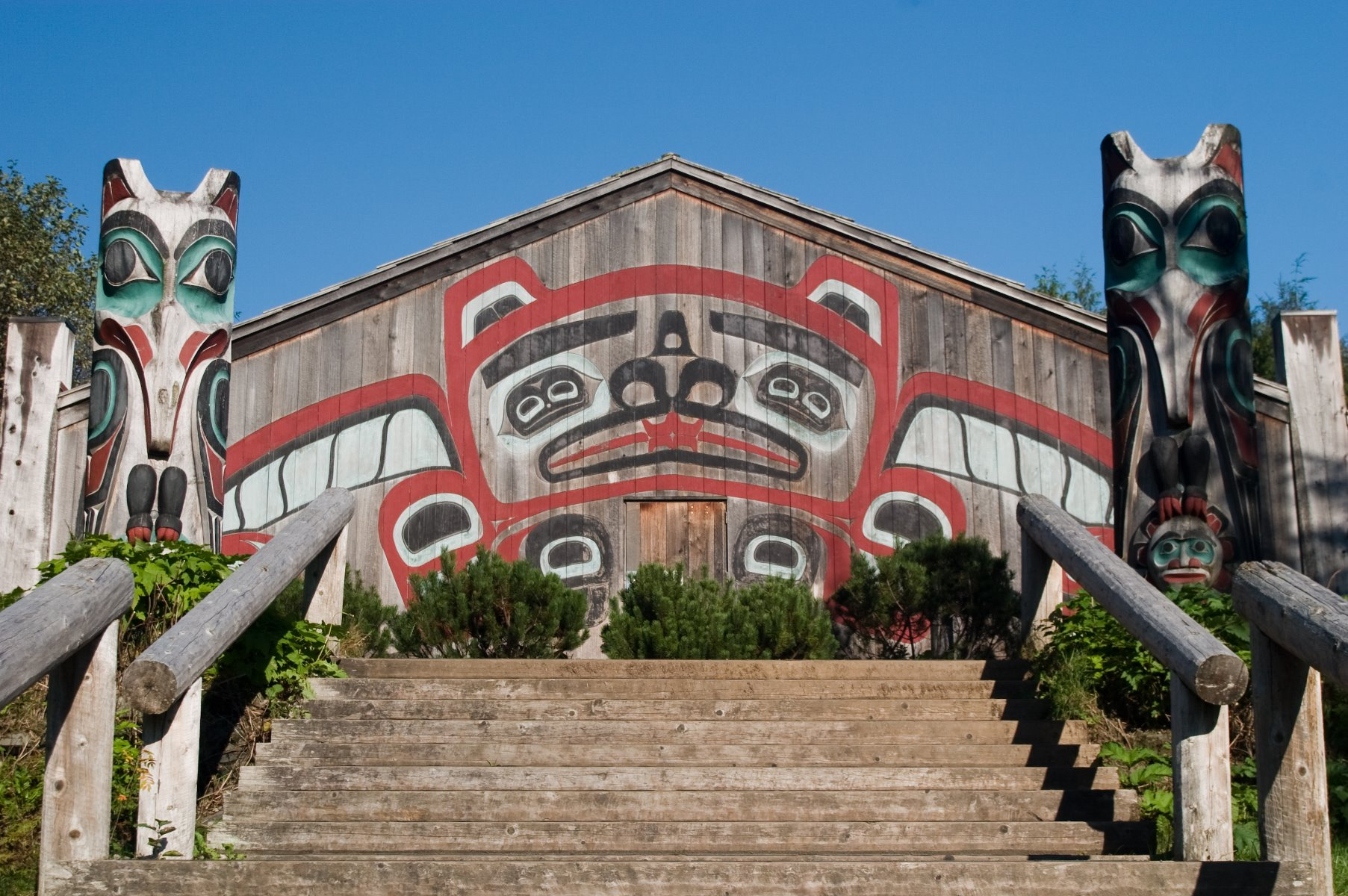Clan House at Saxman Totem Park.
