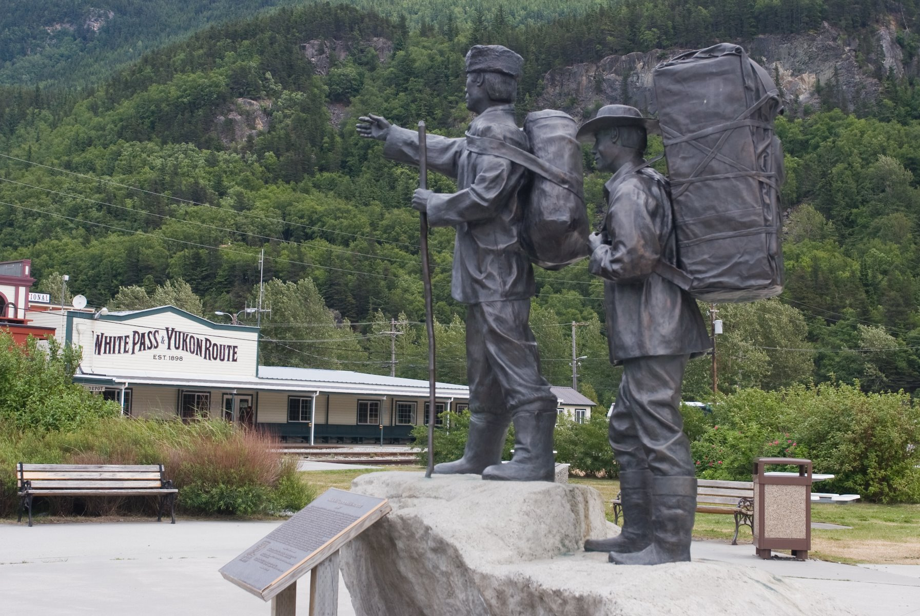 Monument erected for Skagway's Centennial in 1897.