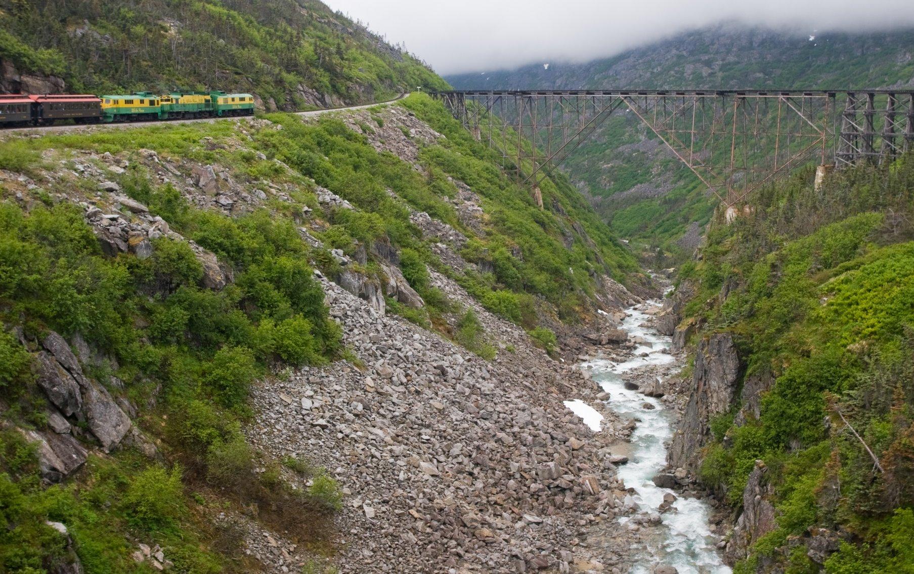 Summit of the train ride to the Yukon Territory.