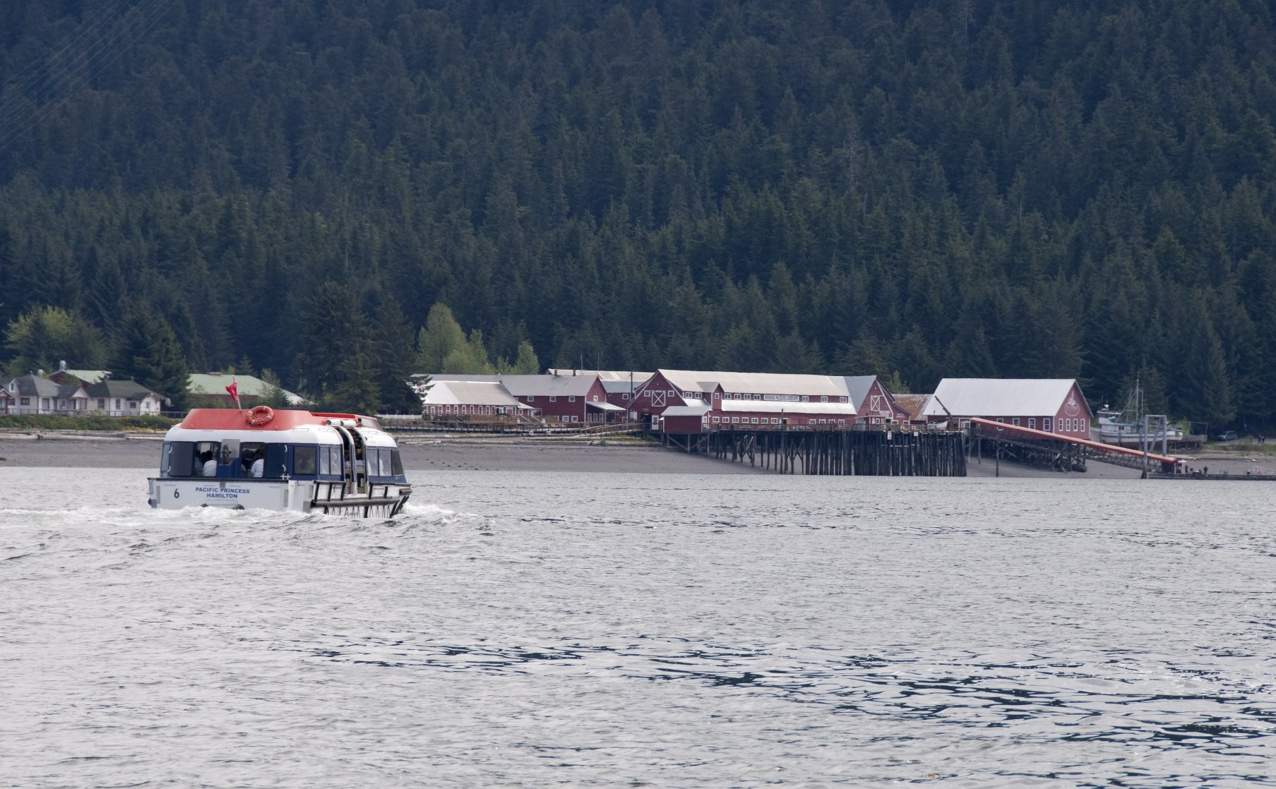 Old salmon cannery at Icy Strait Point in Hoonah.
