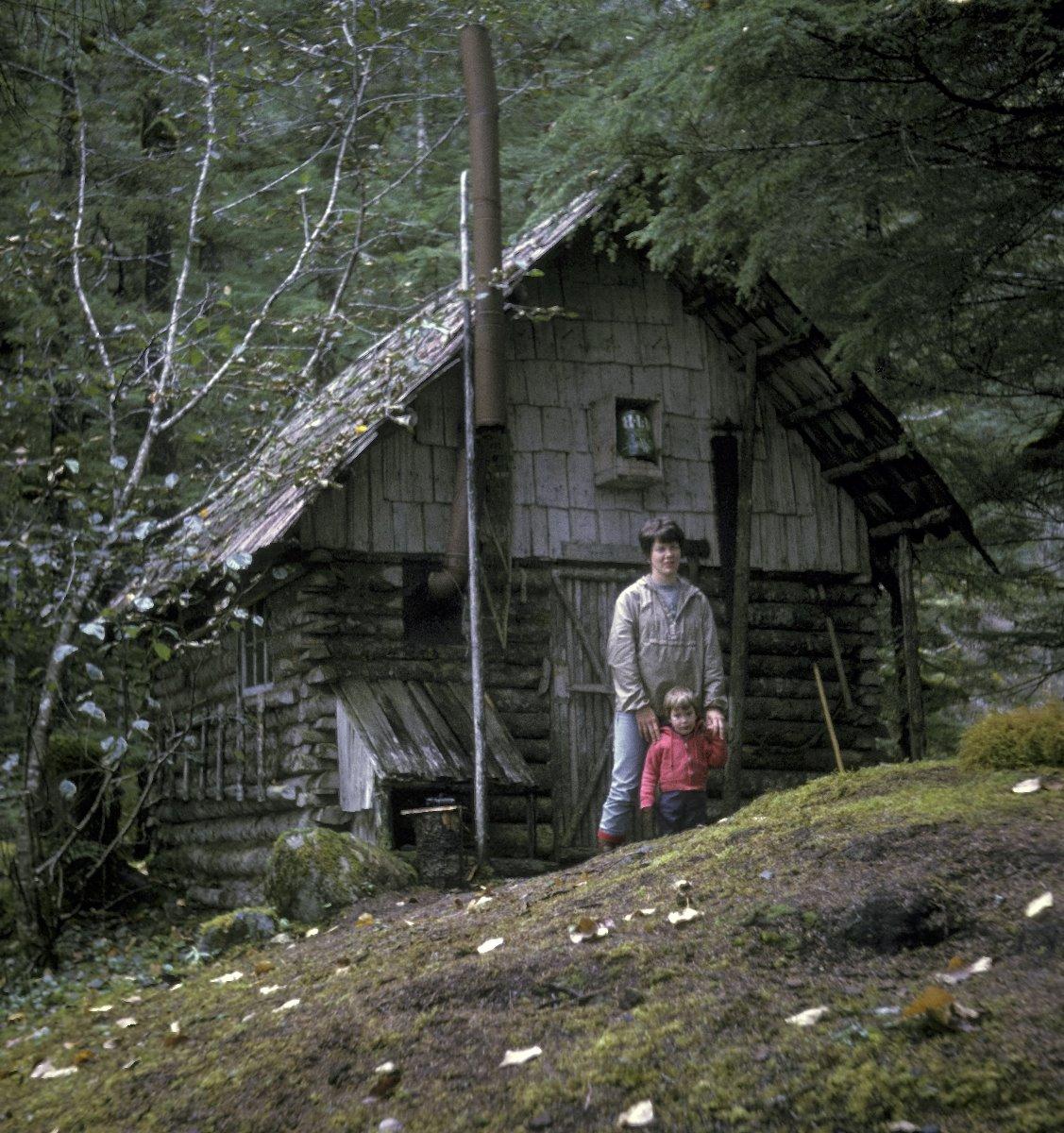 """Charlie Parker's prospecting cabin at """"Indepencence Lake""""."""