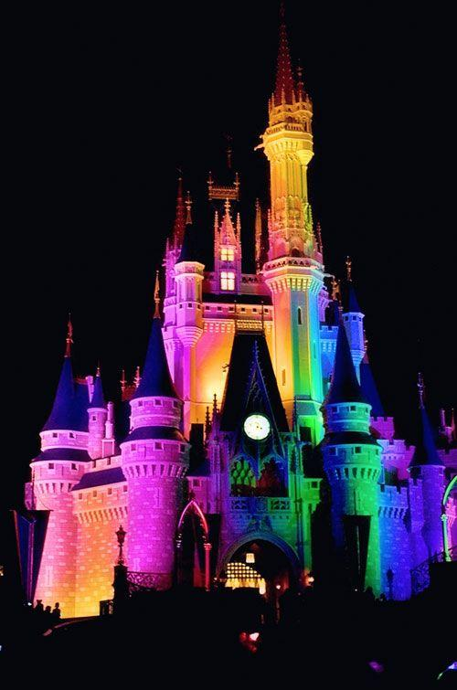 disneylandcastle rainbow