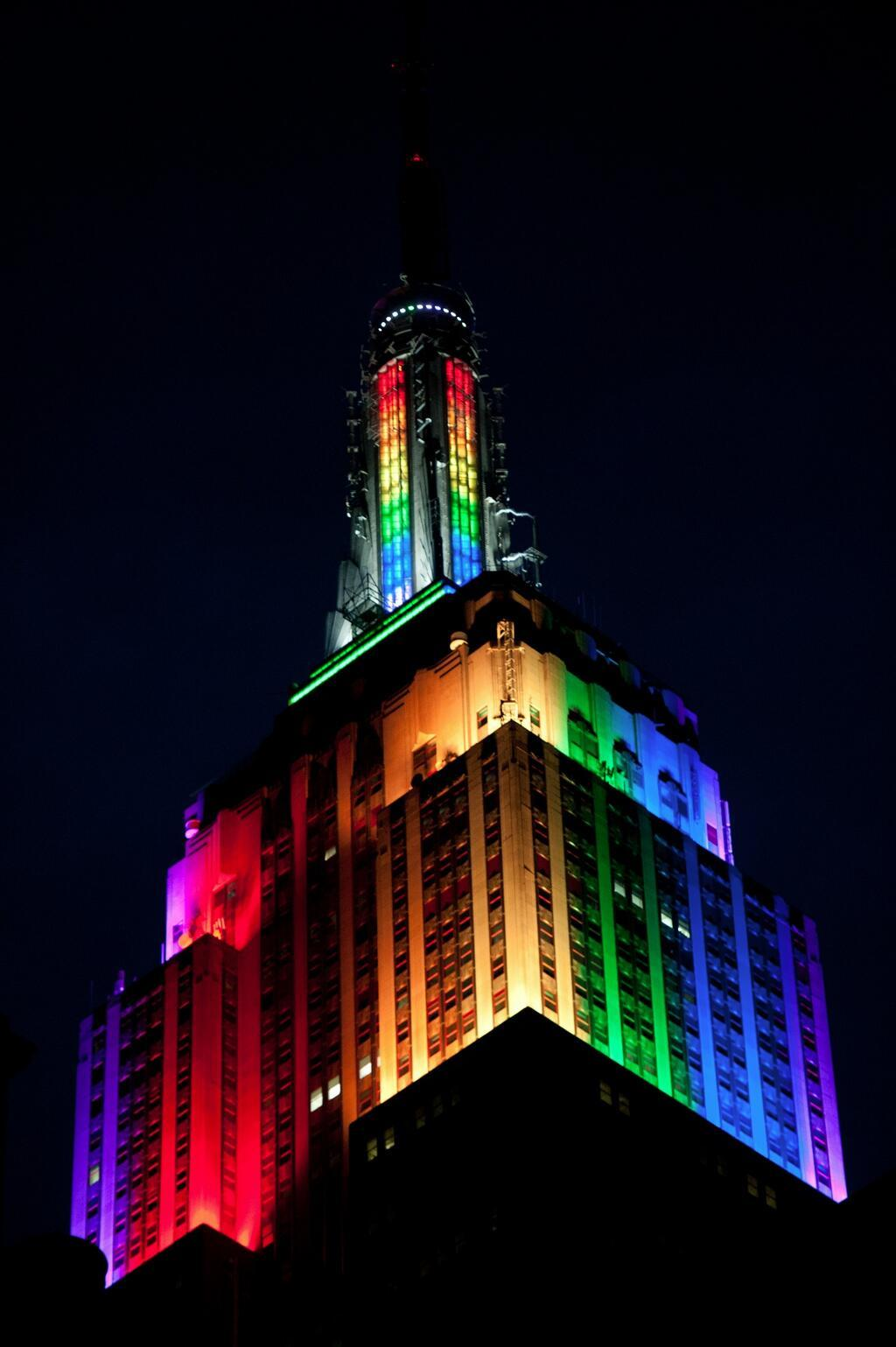 empire state buildling rainbow